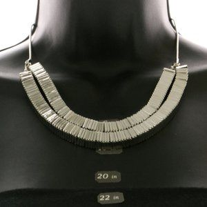 Bebe silver double strand stacked square necklace